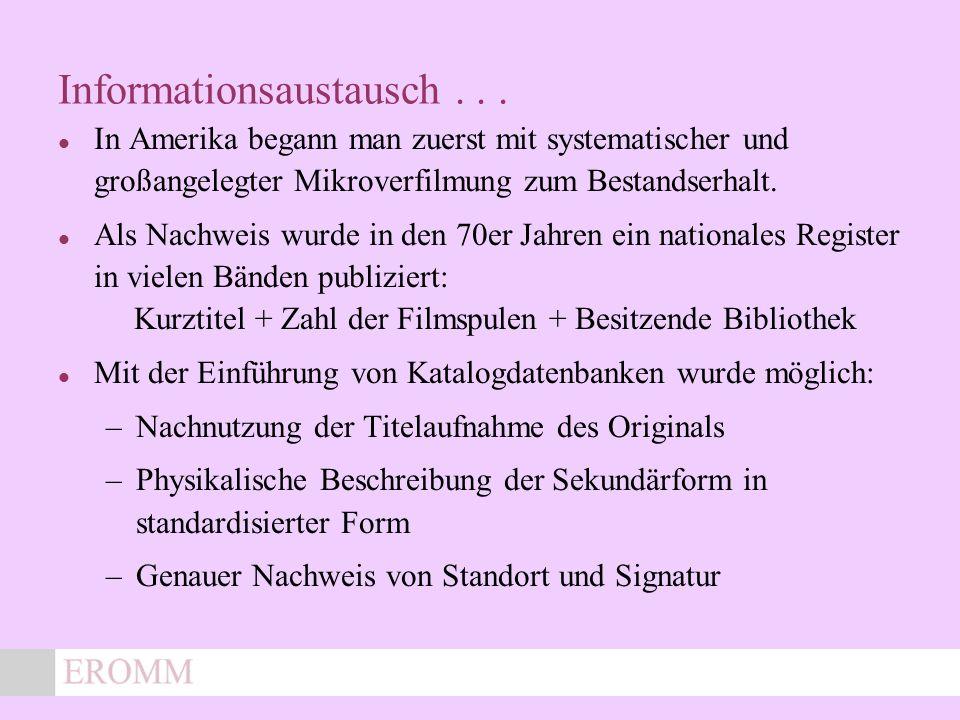 x Informationsaustausch...