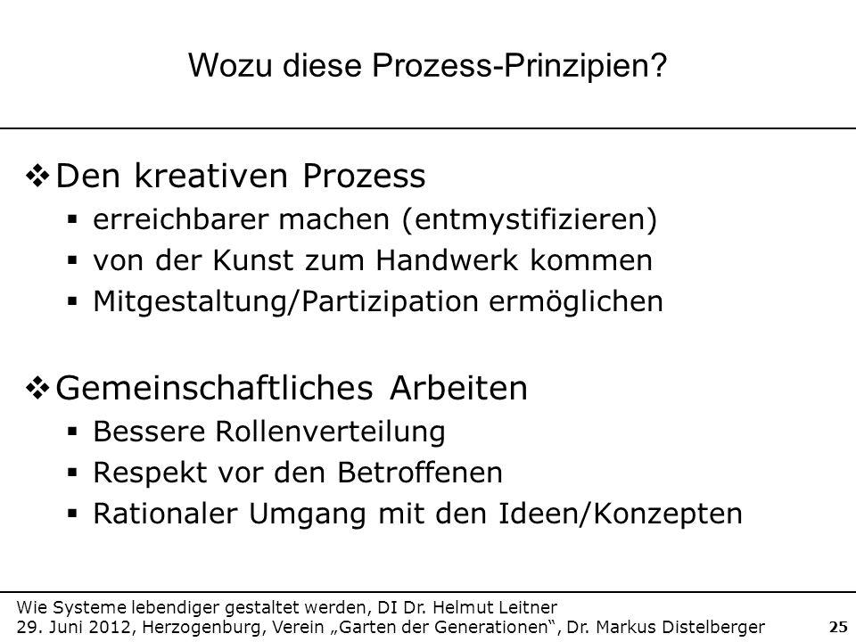 Wie Systeme lebendiger gestaltet werden, DI Dr. Helmut Leitner 29. Juni 2012, Herzogenburg, Verein Garten der Generationen, Dr. Markus Distelberger 25