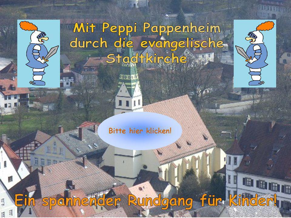 Willkommen zu Peppis Kirchenrallye Begib dich mit Peppi Pappenheim auf eine spannende Reise durch die Zeit.