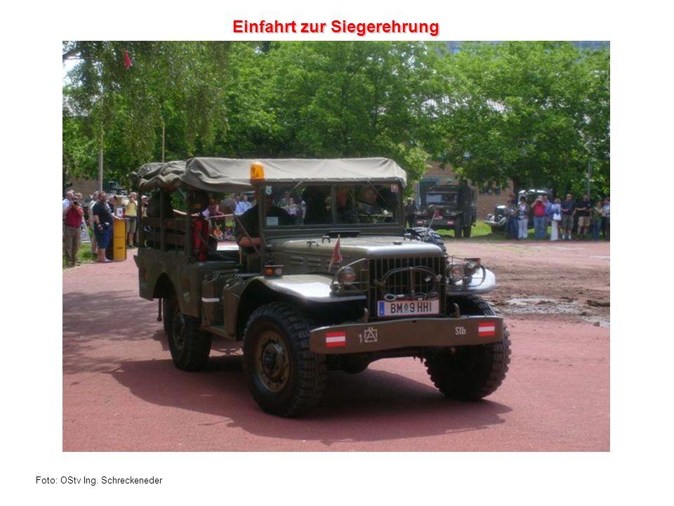 Foto: OStv Ing. Schreckeneder Einfahrt zur Siegerehrung