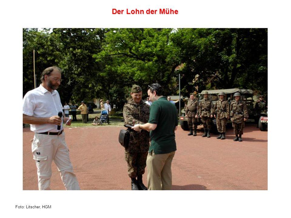 Foto: Litscher, HGM Der Lohn der Mühe