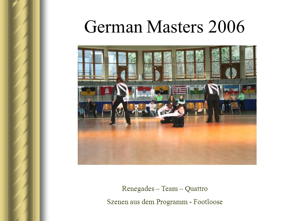 German Masters 2006 Jasmin im vollem Einsatz