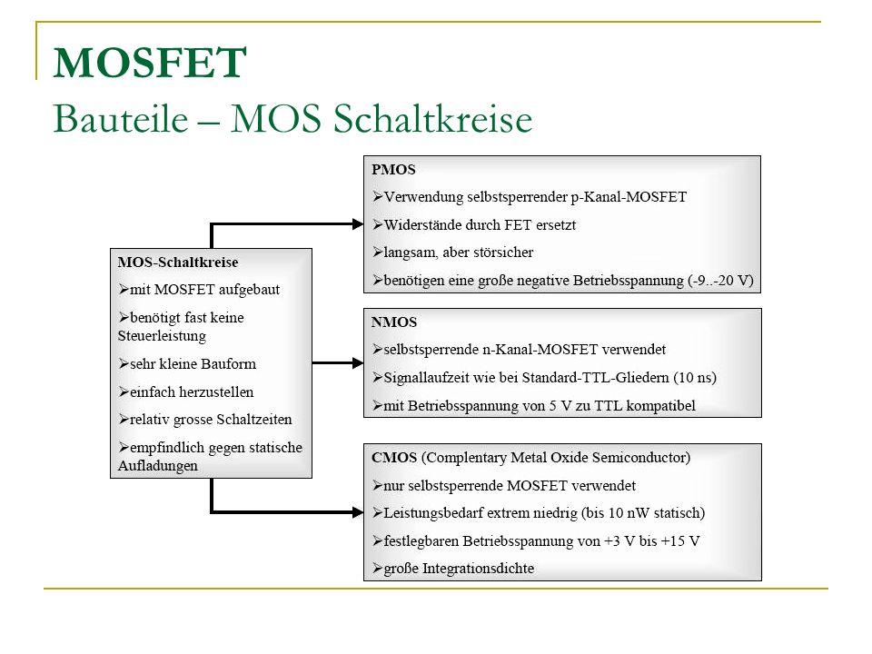 MOSFET Bauteile – MOS Schaltkreise