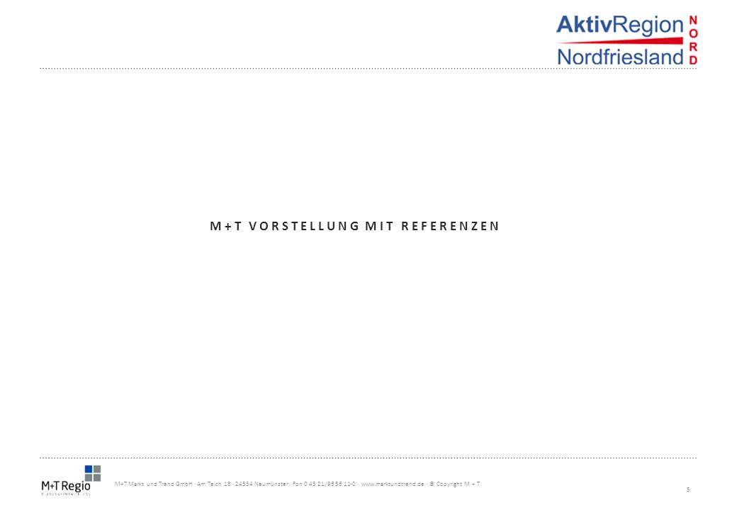 3 M+T Markt und Trend GmbH · Am Teich 18 · 24534 Neumünster · Fon 0 43 21/96 56 11-0 · www.marktundtrend.de · © Copyright M + T M+T VORSTELLUNG MIT RE