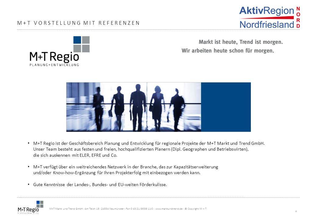 4 M+T Markt und Trend GmbH · Am Teich 18 · 24534 Neumünster · Fon 0 43 21/96 56 11-0 · www.marktundtrend.de · © Copyright M + T M+T VORSTELLUNG MIT RE