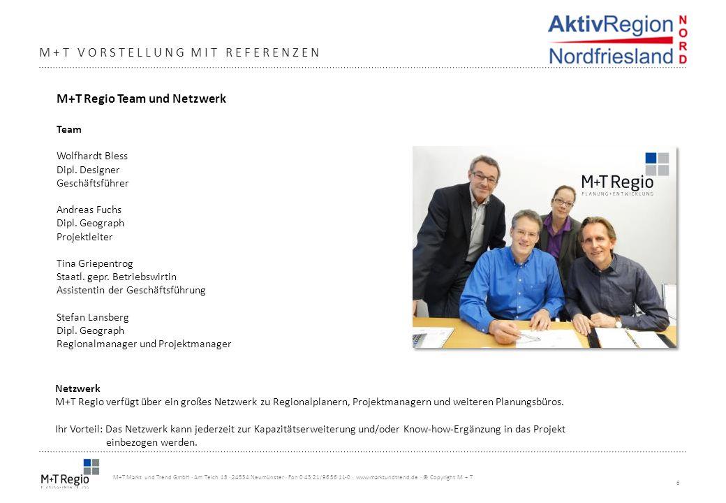 6 M+T Markt und Trend GmbH · Am Teich 18 · 24534 Neumünster · Fon 0 43 21/96 56 11-0 · www.marktundtrend.de · © Copyright M + T M+T VORSTELLUNG MIT RE