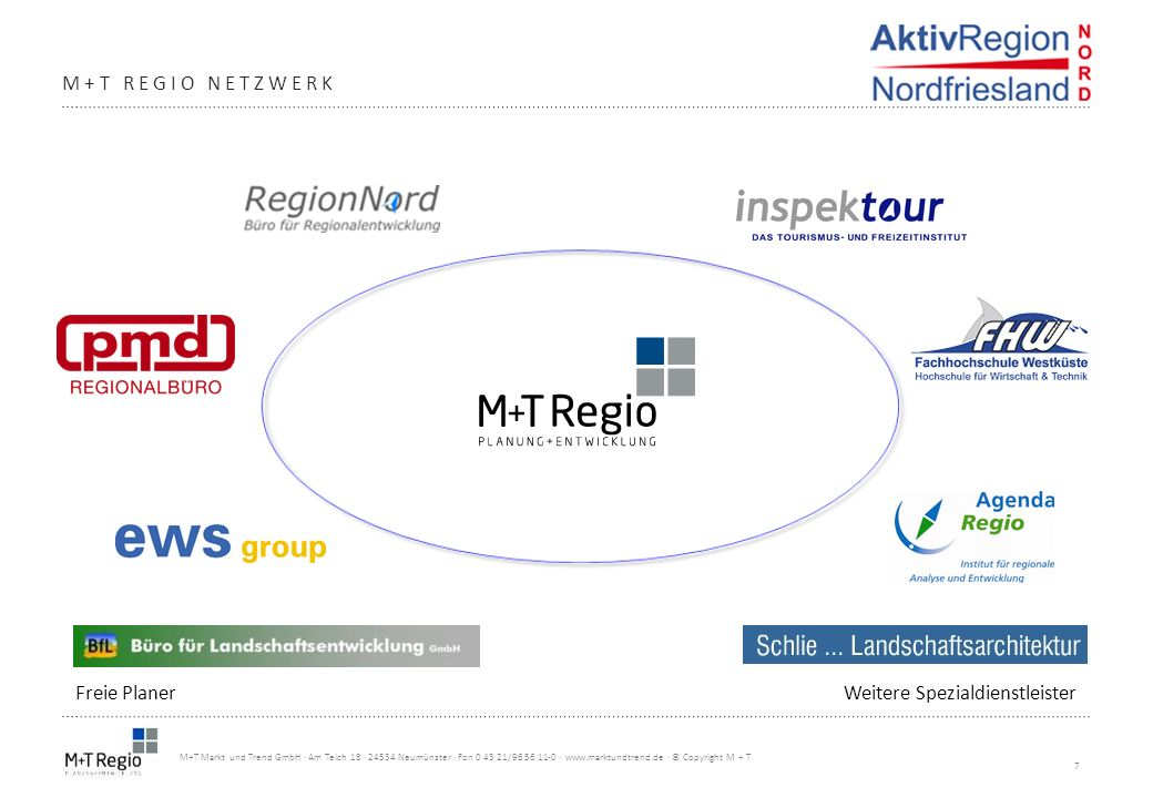 7 M+T Markt und Trend GmbH · Am Teich 18 · 24534 Neumünster · Fon 0 43 21/96 56 11-0 · www.marktundtrend.de · © Copyright M + T M+T REGIO NETZWERK Fre