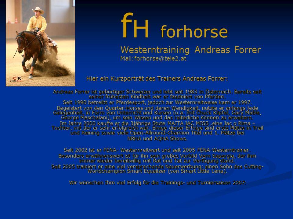 Hier ein Kurzporträt des Trainers Andreas Forrer: Andreas Forrer ist gebürtiger Schweizer und lebt seit 1983 in Österreich.