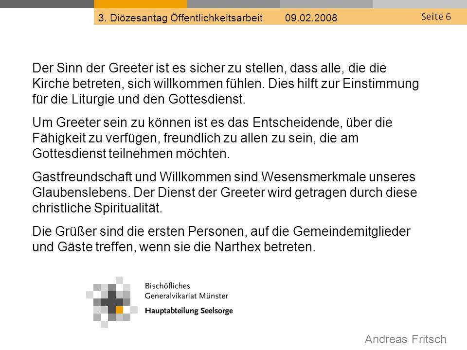 Andreas Fritsch 3. Diözesantag Öffentlichkeitsarbeit 09.02.2008 Seite 17