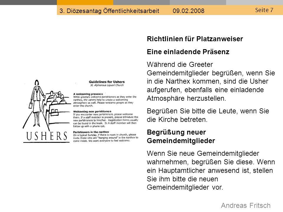Andreas Fritsch 3. Diözesantag Öffentlichkeitsarbeit 09.02.2008 Seite 18