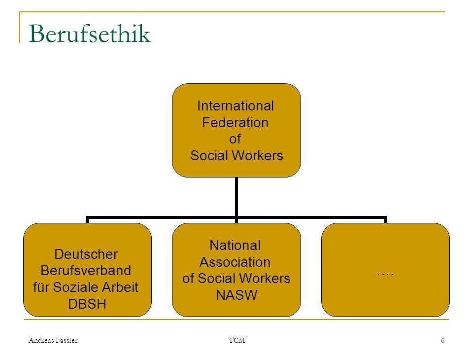 Andreas Fassler TCM 6 Berufsethik International Federation of Social Workers Deutscher Berufsverband für Soziale Arbeit DBSH National Association of S