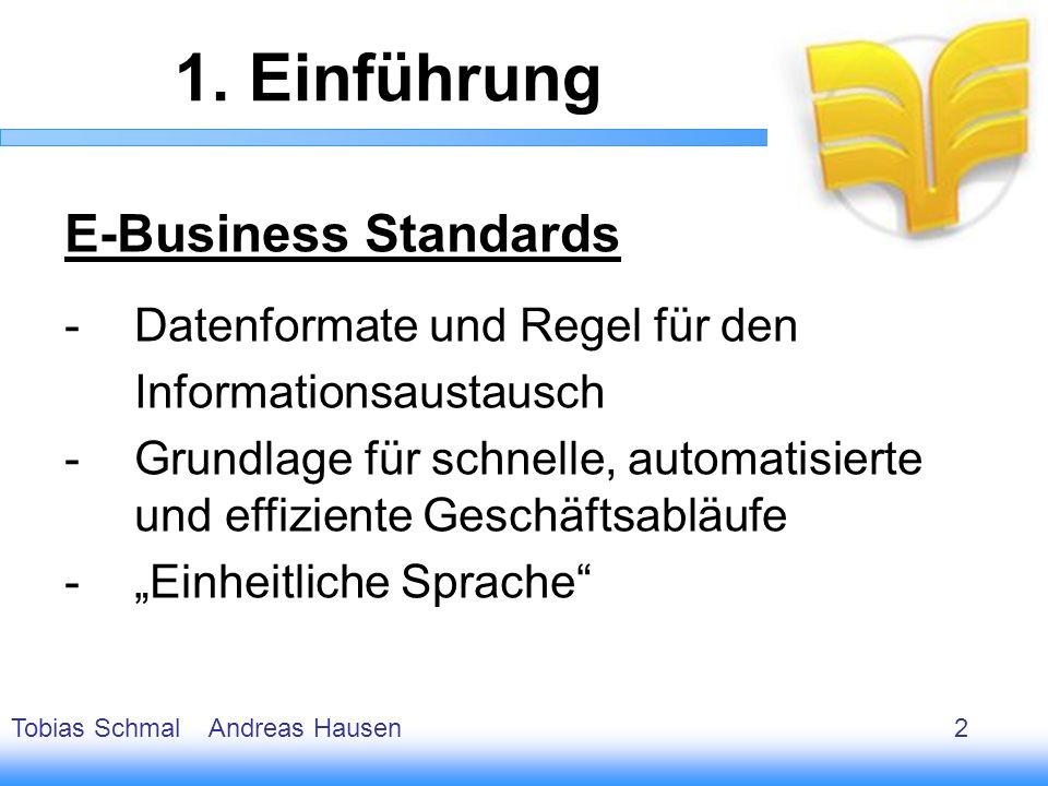 3 E-Business Standards -Datenformate und Regel für den Informationsaustausch -Grundlage für schnelle, automatisierte und effiziente Geschäftsabläufe -
