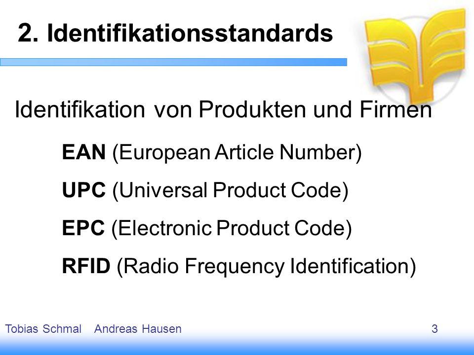 4 Identifikation von Produkten und Firmen EAN (European Article Number) UPC (Universal Product Code) EPC (Electronic Product Code) RFID (Radio Frequen
