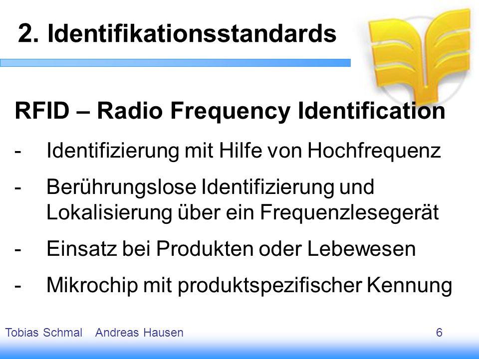 7 RFID – Radio Frequency Identification -Identifizierung mit Hilfe von Hochfrequenz -Berührungslose Identifizierung und Lokalisierung über ein Frequen