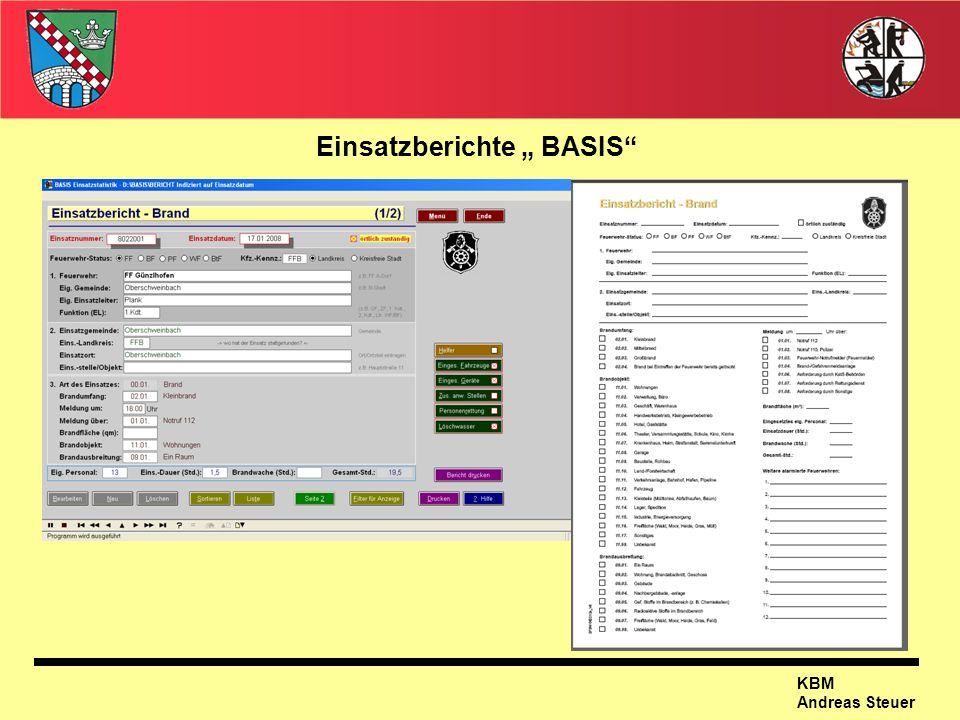 KBM Andreas Steuer Einsatzberichte BASIS
