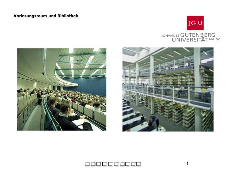11 Vorlesungsraum und Bibliothek