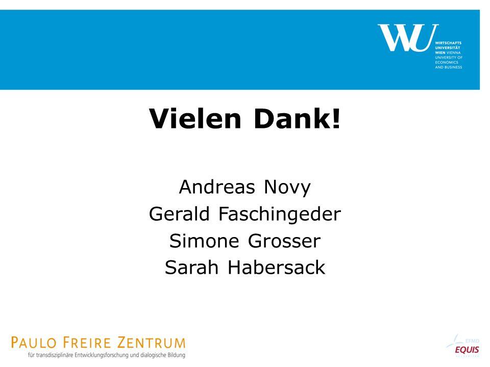 Viele Vielen Dank! Andreas Novy Gerald Faschingeder Simone Grosser Sarah Habersack