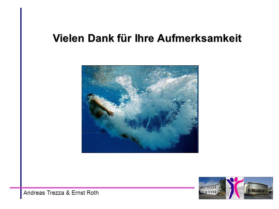 Vielen Dank für Ihre Aufmerksamkeit Andreas Trezza & Ernst Roth