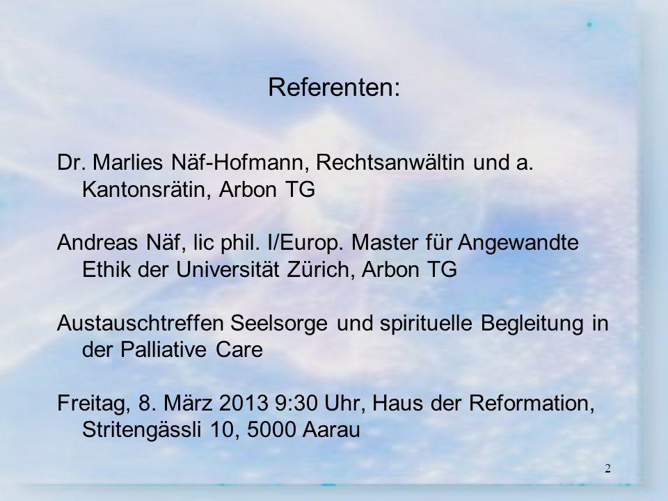 3 Marlies Näf-Hofmann 1992: Wahl in den Grossen Rat des Kantons Thurgau --> aktives Mitwirken in der Politik