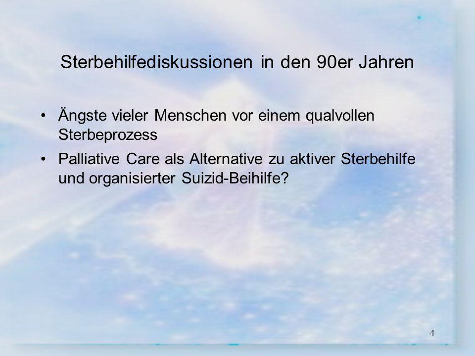 15 Arbeitsgruppe Umsetzungskonzept Palliative Care Thurgau Ernennung der Arbeitsgruppe Umsetzungskonzept Palliative Care Thurgau durch Regierungsrat Bernhard Koch am 20.