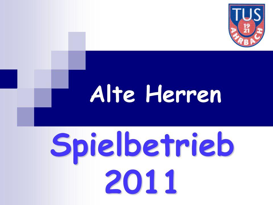 Spielbetrieb 2011 Alte Herren
