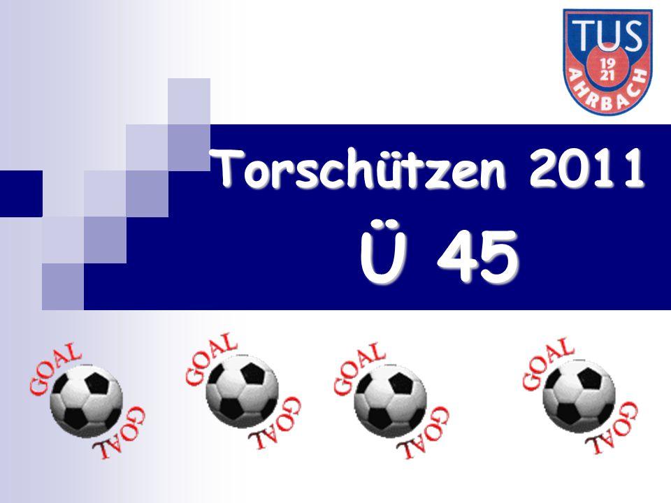 Torschützen 2011 Ü 45