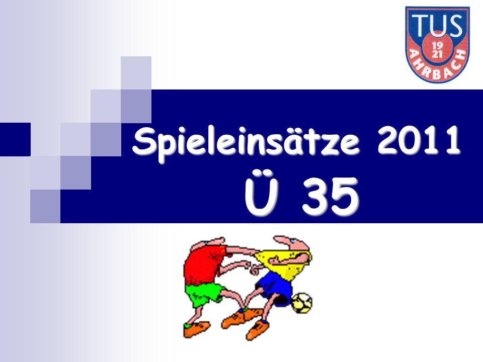 Ü 35 Spieleinsätze 2011