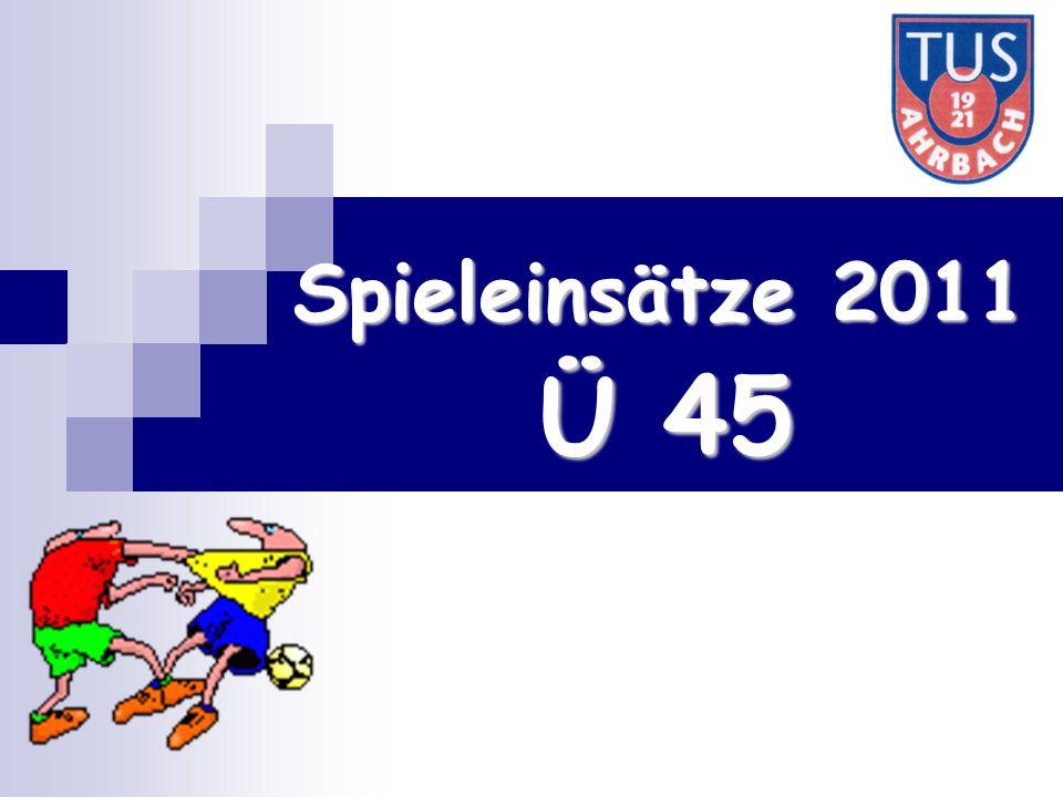 Ü 45 Spieleinsätze 2011