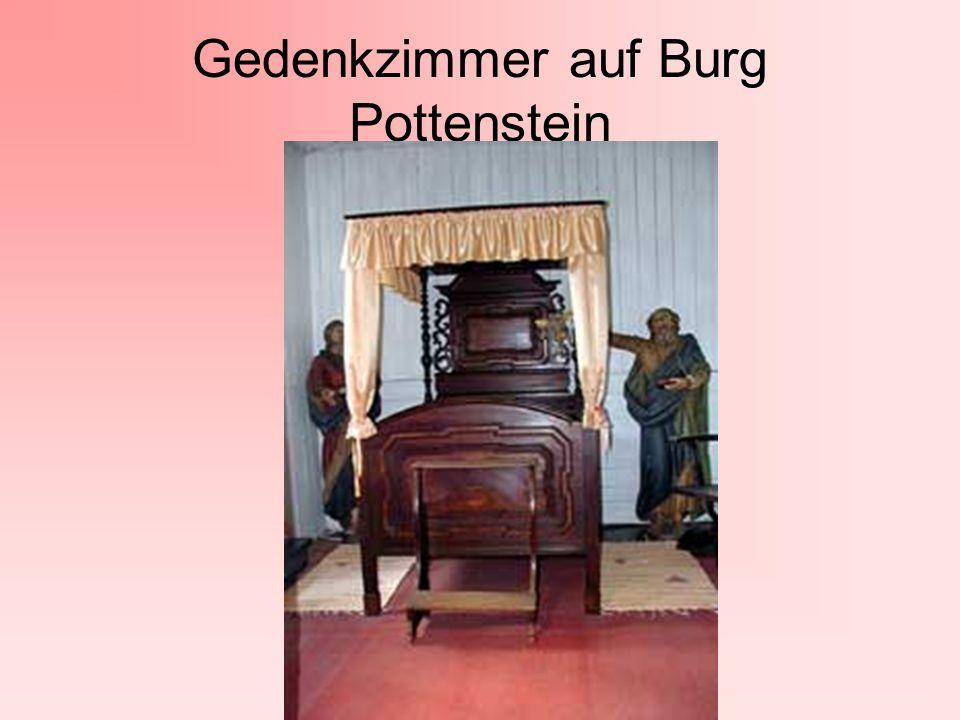Gedenkzimmer auf Burg Pottenstein
