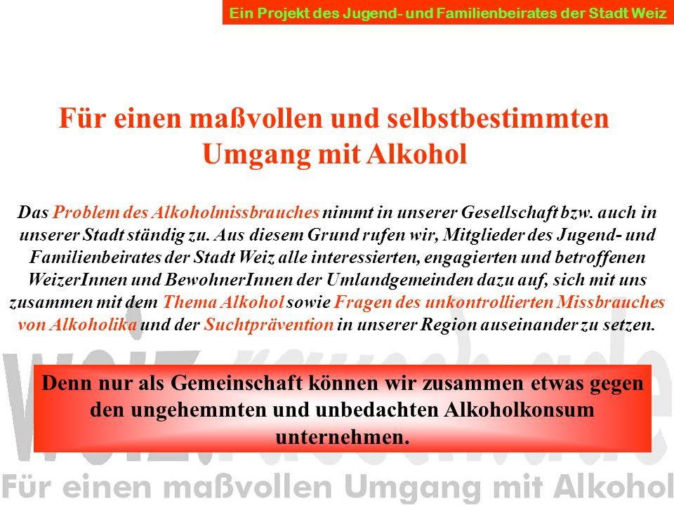 Das Problem des Alkoholmissbrauches nimmt in unserer Gesellschaft bzw.