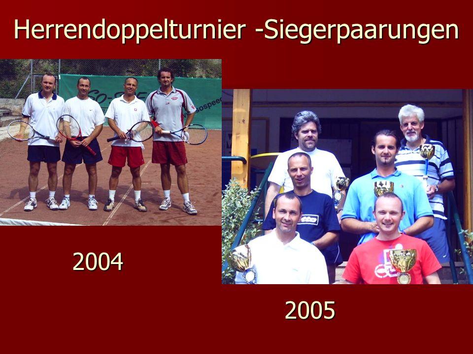 Herrendoppelturnier -Siegerpaarungen 2004 2005