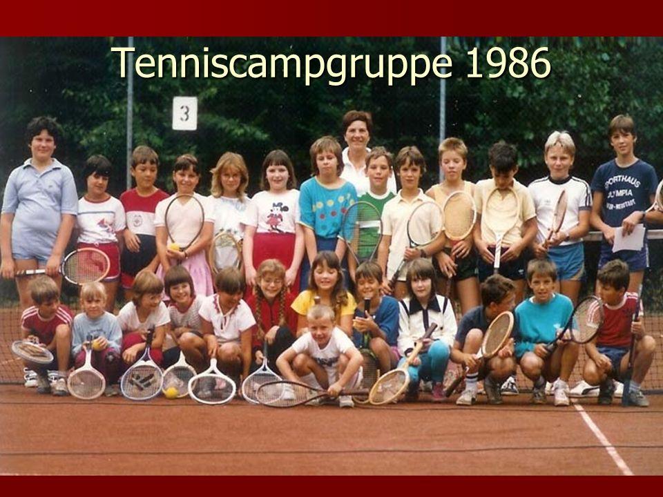 Tenniscampgruppe 1986