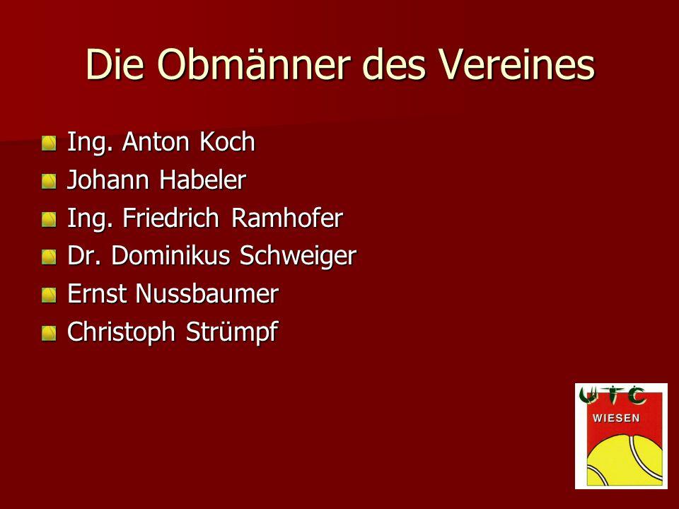 Die Obmänner des Vereines Ing.Anton Koch Johann Habeler Ing.
