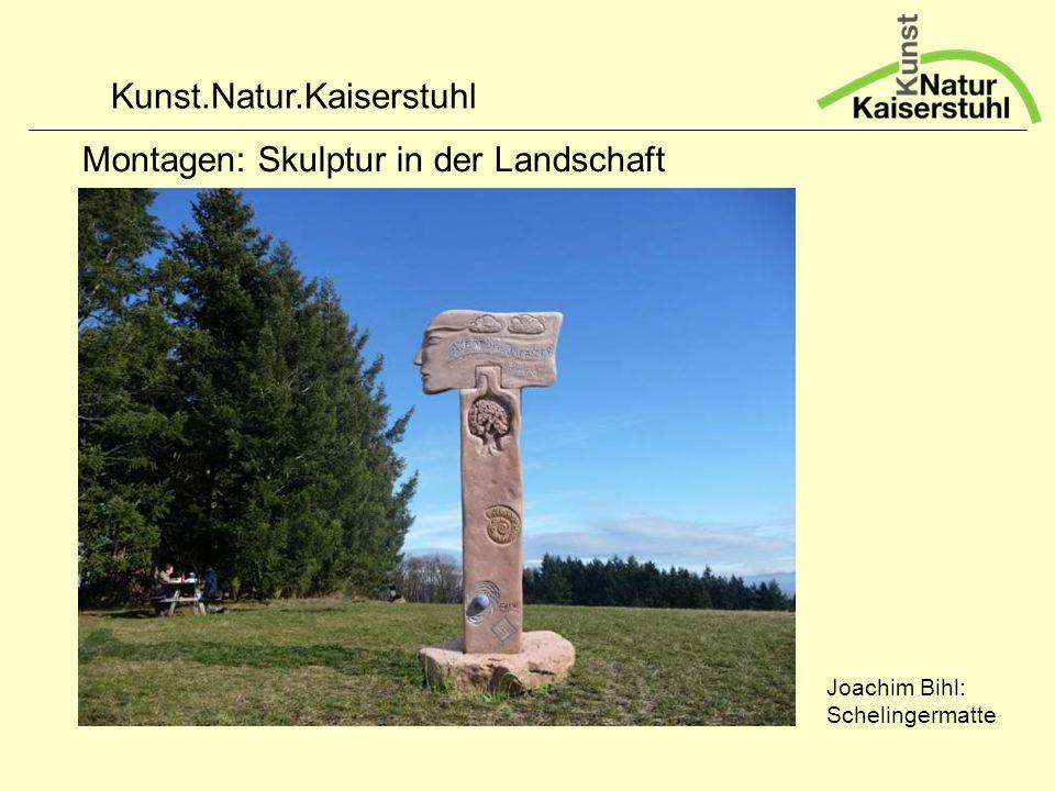 Kunst.Natur.Kaiserstuhl Montagen: Skulptur in der Landschaft Joachim Bihl: Schelingermatte
