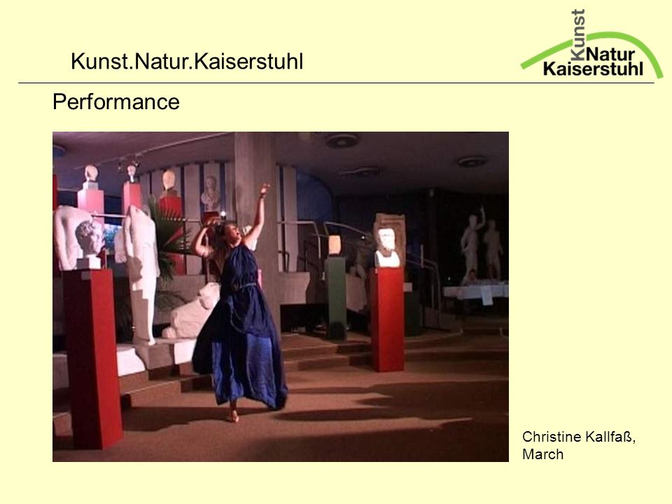Kunst.Natur.Kaiserstuhl Performance Christine Kallfaß, March
