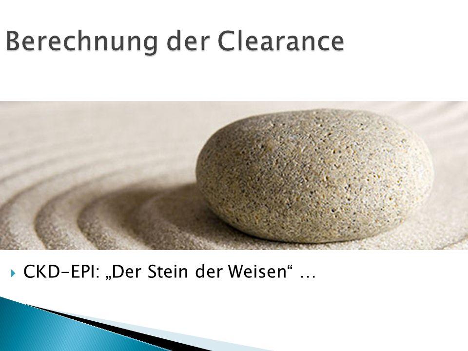 Berechnung der Clearance CKD-EPI: Der Stein der Weisen …