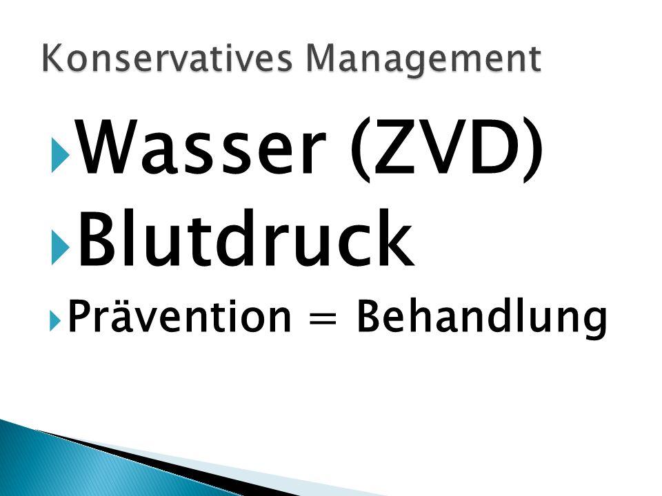 Wasser (ZVD) Blutdruck Prävention = Behandlung