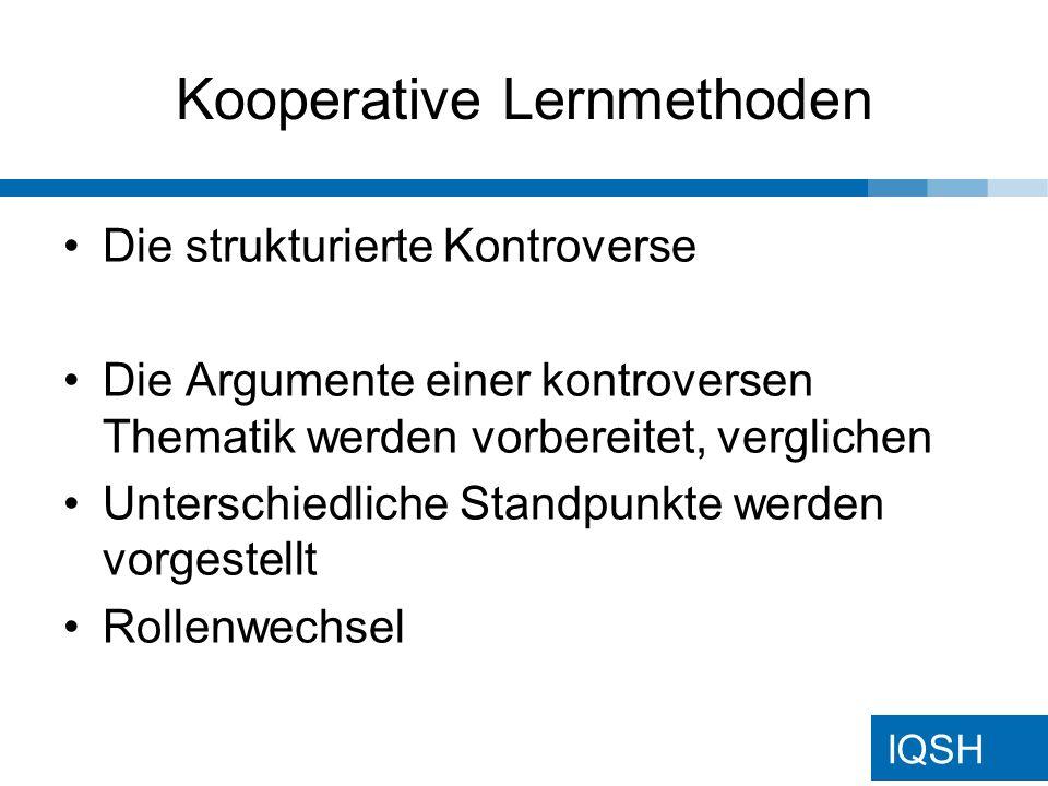 IQSH Kooperative Lernmethoden Siehe Stellwand...