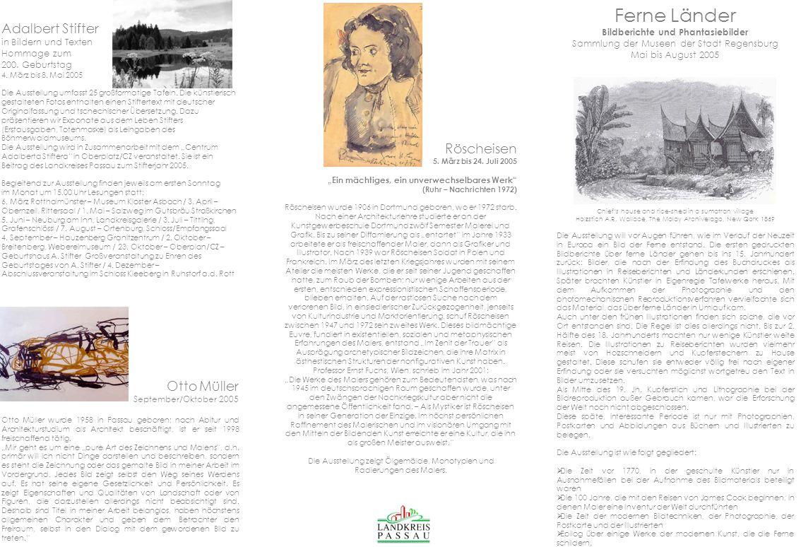 Ferne Länder Bildberichte und Phantasiebilder Sammlung der Museen der Stadt Regensburg Mai bis August 2005 Chiefs house and rice-shed in a sumatran vi