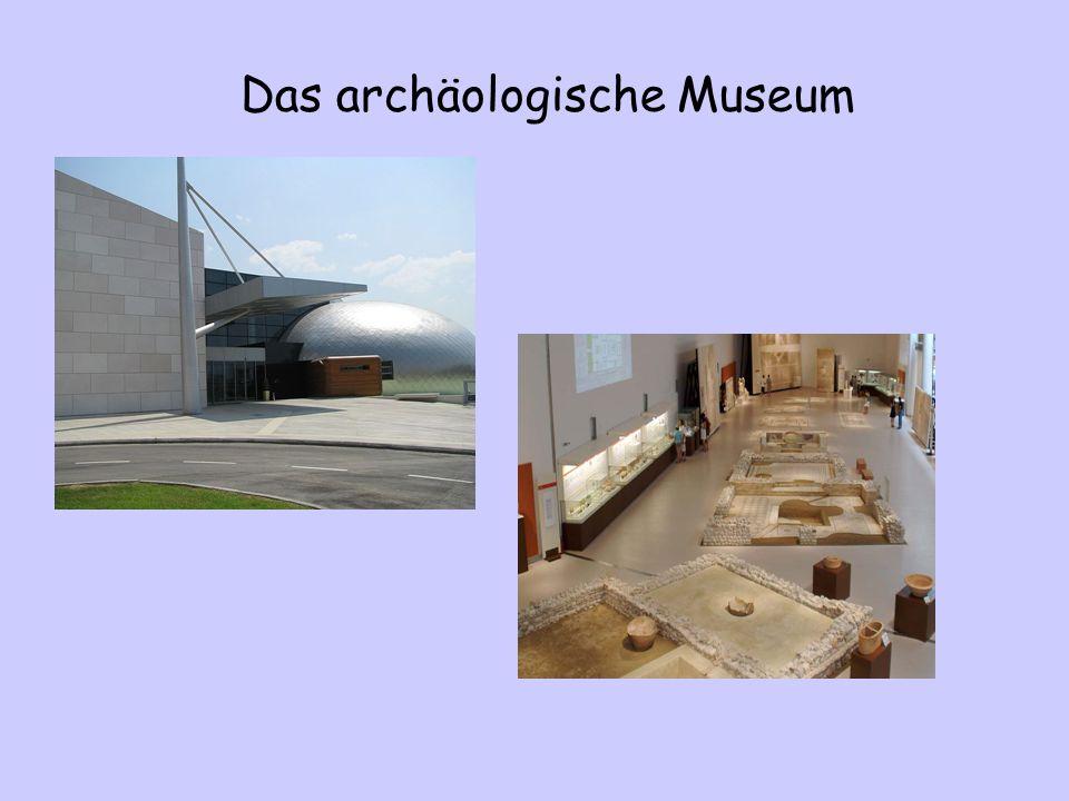 Das Archäologische Museum ist zwischen Patras und Rio.
