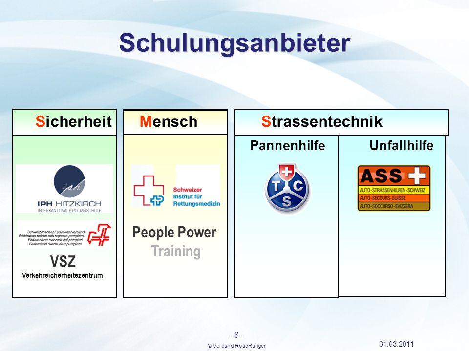 - 9 - © Verband RoadRanger 31.03.2011 Berufsprüfung mit eidg.