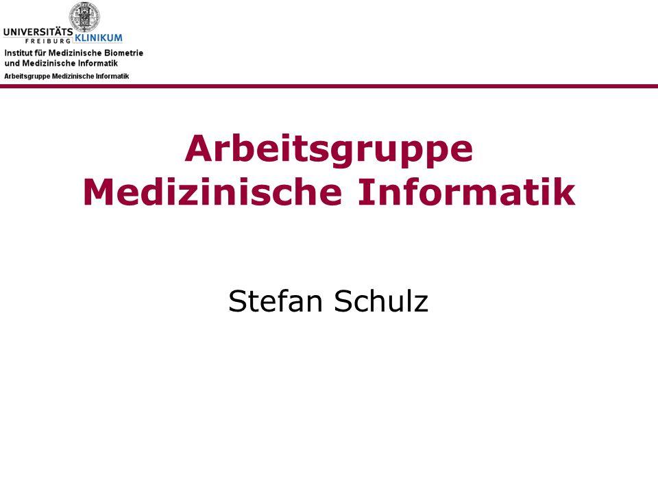 Arbeitsgruppe Medizinische Informatik Stefan Schulz