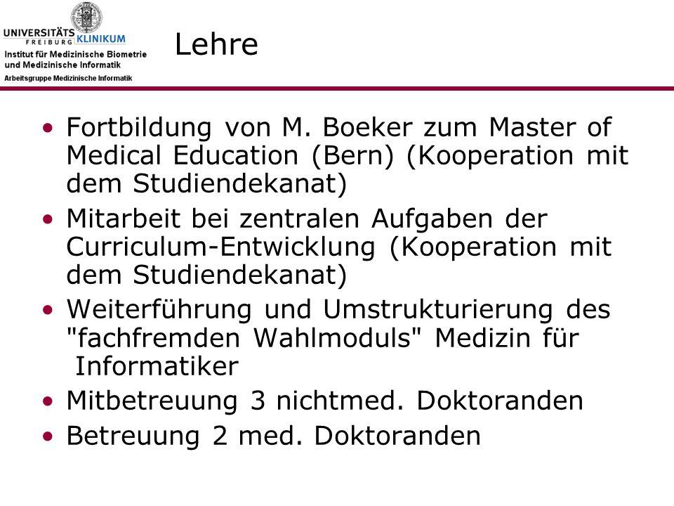 Lehre Fortbildung von M.