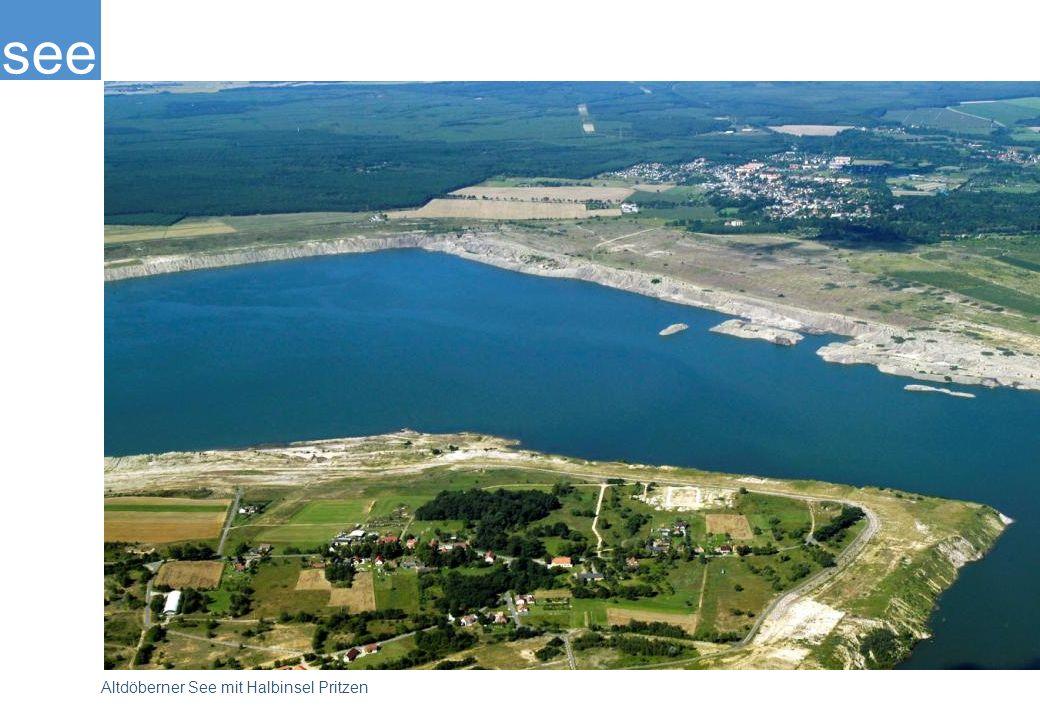 see Altdöberner See mit Halbinsel Pritzen