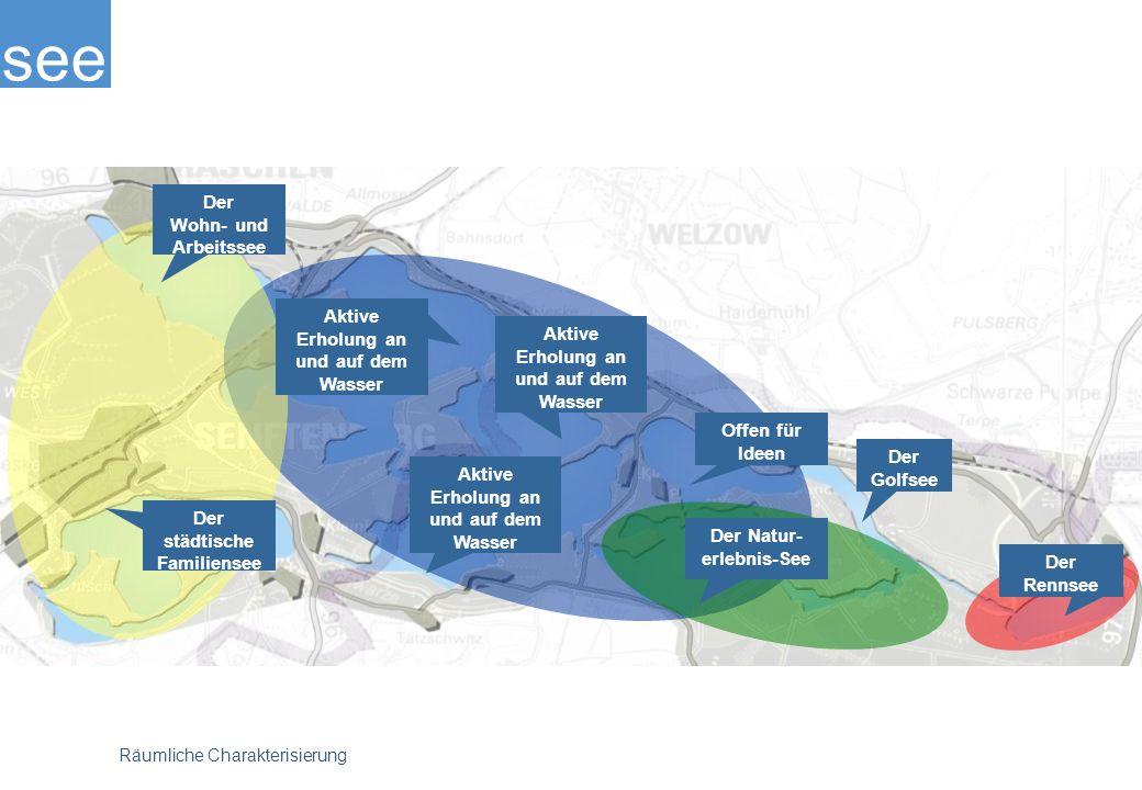 see Räumliche Charakterisierung Der Golfsee Der Rennsee Der Natur- erlebnis-See Der städtische Familiensee Der Wohn- und Arbeitssee Offen für Ideen Aktive Erholung an und auf dem Wasser Aktive Erholung an und auf dem Wasser Aktive Erholung an und auf dem Wasser