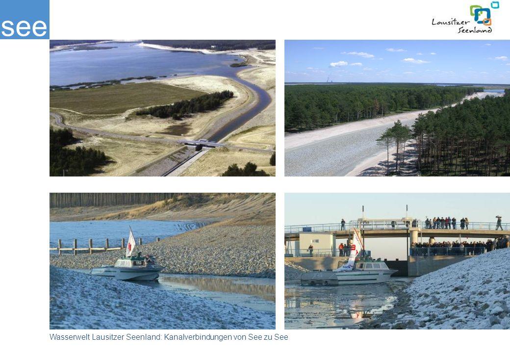 see Wasserwelt Lausitzer Seenland: Kanalverbindungen von See zu See