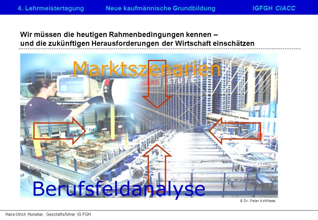 4. LehrmeistertagungNeue kaufmännische GrundbildungIGFGH CIACC Hans-Ulrich Hunziker, Geschäftsführer IG FGH Wir müssen die heutigen Rahmenbedingungen