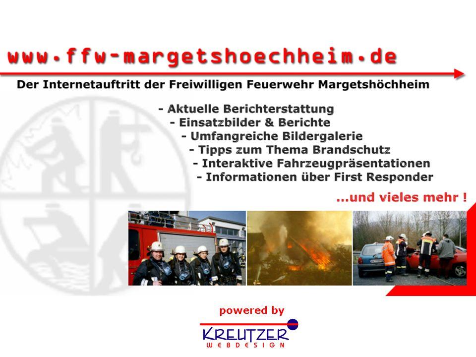 Tag der offenen Tür 2003 Start Freiwillige Feuerwehr M a r g e t s h ö c h h e i m - Präsentation zu unserem Internetauftritt -