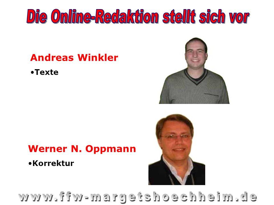 Andreas Winkler Texte Werner N. Oppmann Korrektur