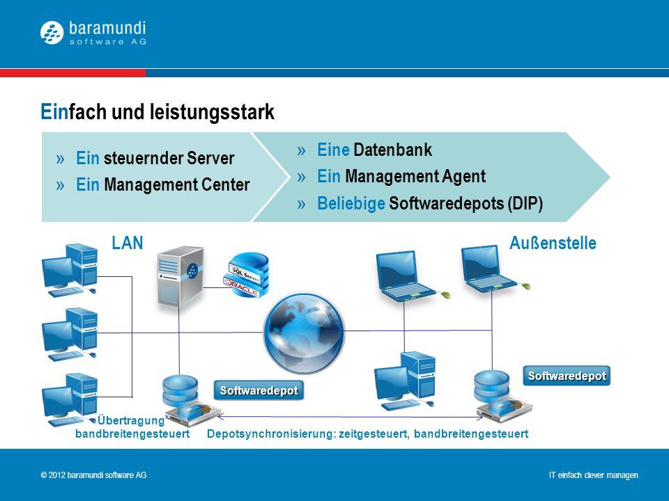 © 2009 baramundi software AG IT einfach clever managen © 2012 baramundi software AG IT einfach clever managen Einfach und leistungsstark » Eine Datenb